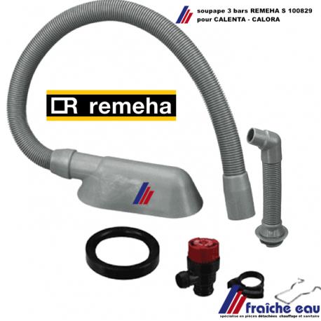kit soupape de surpression avec tube REMEHA S 100829 ,Overstortventiel met slang voor  CALENTA - CALORA