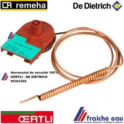 thermostat de sécurité  TTB , DE DIETRICH- OERTLI - REMEHA - 95363366 VEILIGHEIDSTHERMOSTAAT OFG