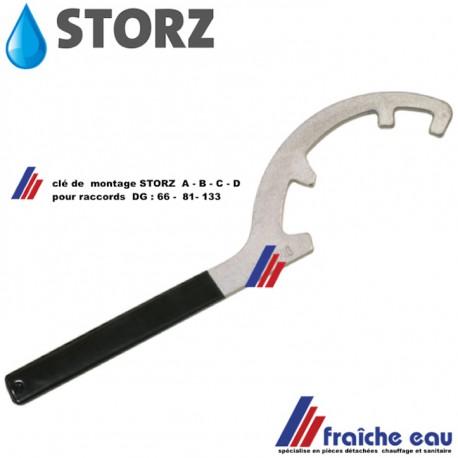 clé de montage pour raccord type STORZ type DG 66 - 81 - 133 ,Kupplungsschlüssel für Storz