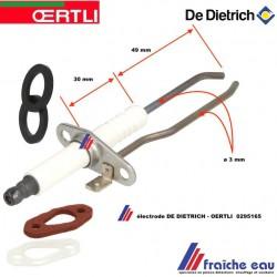 électrode d'allumage et ionisation 0295165 OERTLI, Ontstekings en ionisatie electrode met dichting