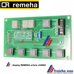Platine display circuit imprimé avec boutons de commandes  REMEHA article S54802 pour QUINTA 25 - 115 / Gas 210 ECO
