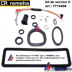 Kit maintenance 7714498  type  C REMEHA  pour chaudière  Tzerra Ace 35 / 40c, Onderhoudssset C voor gasketel condensatie Tzerra