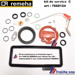 Kit de maintenance et d'entretien type C art: 7668124 REMEHA pour Calenta Ace 28c , onderhoudskit C voor condensatieketel REMEHA