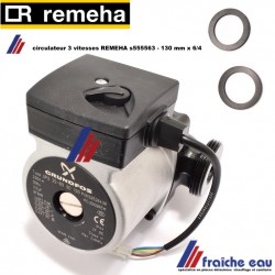 circulateur REMEHA s55563, écartement 130 mm, filetage 6/4 ,Pompe de charge pour Quinta 25s, 30s, Ketellaadpomp voor Quinta