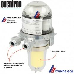 filtre avec dégazeur combiné OVENTROP 2142732 ,type TOC DUO 3 filtre avec évent pour la chaudière à mazout