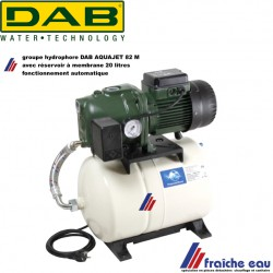 groupe hydrophore DAB AQUAJET 82 M automatique avec vase d'expansion a membrane  20 litres article 60121345