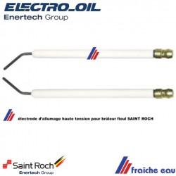electrode d'allumage de brûleur fioul saint roch / bentone / enertech , électrode haute tension 42001 zaegel held et electro oil