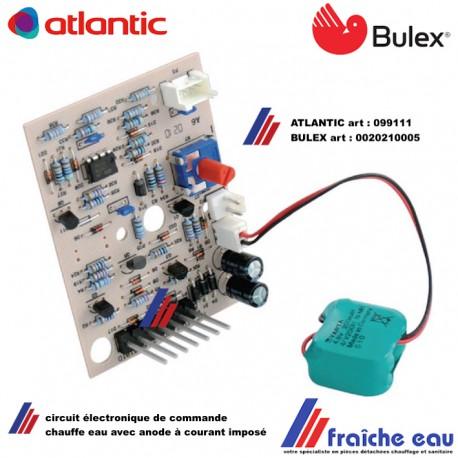 platine électronique de chauffe eau BULEX, printplaat 0020210005 , carte , platine de boiler  ATLANTIC 099111