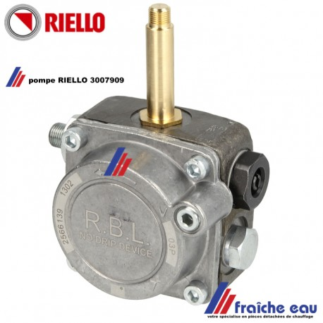 pompe de brûleur RIELLO 3007909 avec raccordement pour le vérin de clapet d'air, livrée sans bobine