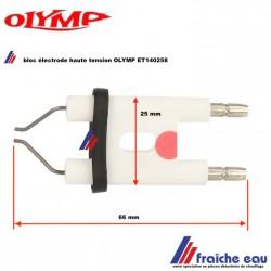 électrode d'allumage  haute tension pour brûleur fioul OLYMP  ET140258