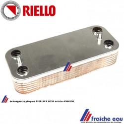 échangeur à plaques RIELLO R 8036 code 4364200 pour chaudière RESIDENCE CONDENS et NUOVA CONDENS