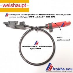 cellule photo électrique WEISHAUPT  type QRB4B tube de 13 mm, détection de flamme  pour les brûleur livré à partir de juin 2019