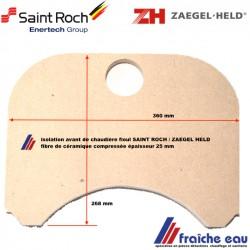 isolation CERAFELD  de chaudière SAINT ROCH  BENTONE, porte supérieure , trappe de nettoyage isolant de porte