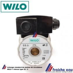 moteur de remplacement  circulateur WILO type 25/5 à une vitesse puissance 83 watts échange standard pour chauffage et sanitaire