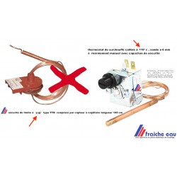 aquastat, thermostat de sécurité , limite de surchauffe à 110° , ST ROCH pour chaudière GREENGAS