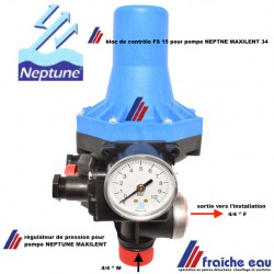 Le Presscontrol FS 15 a été conçu pour automatiser le fonctionnement d'une pompe NEPTUNE MAXILENT 34