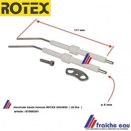 électrode d'allumage haute tension ROTEX 5004892 pour brûleur 20 Kw , HERRMANN BO 20 article : E1500351