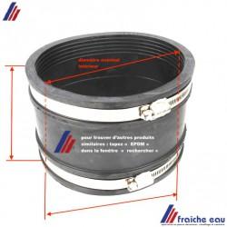 manchon d'accouplement EPDM semi souple pour canalisation de décharge grès vitrifié, fonte, sans pression de ø 135 à 150 mm