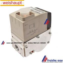 vanne gaz WEISHAUPT 605240 multibloc  type W-MF 055 bloc gaz  pour brûleur gaz WG5