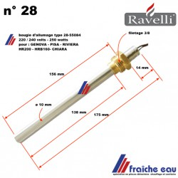 bougie d'allumage 250 watts type 55084 RAVELLI pour : GENOVA- PISA -RIVIERA - CHIARA