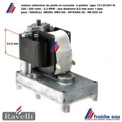 moteur vis d'alimentation poêle pellets RAVELLI  rotation horlogique  5,3 RPM  pour HR 200 , HRV 160 , HR EVO