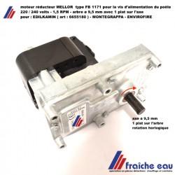 moteur de vis d'alimentation poêle à pellets axe ø9,5 mm/ 1,5 RPM, motoréducteur de poêle et cassette à granulés de bois