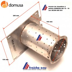 brasier , foyer ,tube de combustion interne du bruleur RCON-000-001 pour chaudière à pellets  DOMUSA NG 10-16,