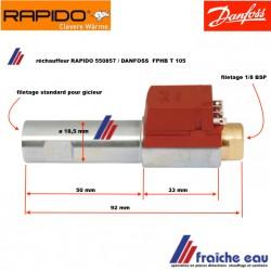 préchauffage de ligne , réchauffeur de fioul RAPIDO 550587 reparatieonderdelen stukken voor RAPIDO stookolie ketel