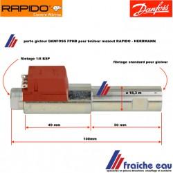 préchauffage , réchauffeur de ligne pour DANFOSS / RAPIDO  brûleur fuel 551678- ø 18,3 , résistance de chauffage mazout