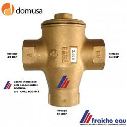 vanne de charge thermique 3 voies anti condensation DOMUSA , vanne mélangeuse à température fixe
