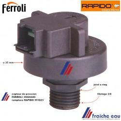 capteur , transducteur ,détecteur de pression  RAPIDO FERROLI , pressostat 39826680 remplace 551823