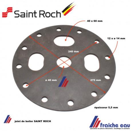 joint de bride diamètre 275 mm  pour ballon d'eau chaude SAINT ROCH 11010040012 joint de préparateur sanitaire