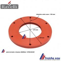 joint de la boîte à fumées pour insert à pellets RAVELLI , joint en silicone  2700-00-061 pour cassette à granulés de bois