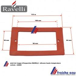 joint en silicone haute température pour la trappe de visite RAVELLI 44005,il assure l'étanchéité des portes d'inspection