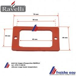 joint en silicone  070-11-049 N pour trappe d'inspection de poêle à pellets RAVELLI, le remplacement des joints est obligatoire