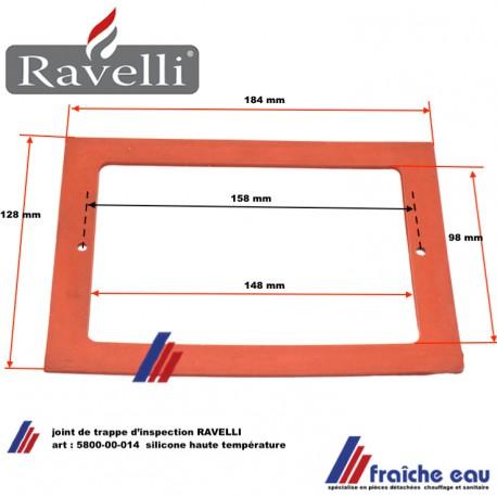 joint RAVELLI 5800-00-014 pour trappe d'inspection et de nettoyage en silicone résistant à la température