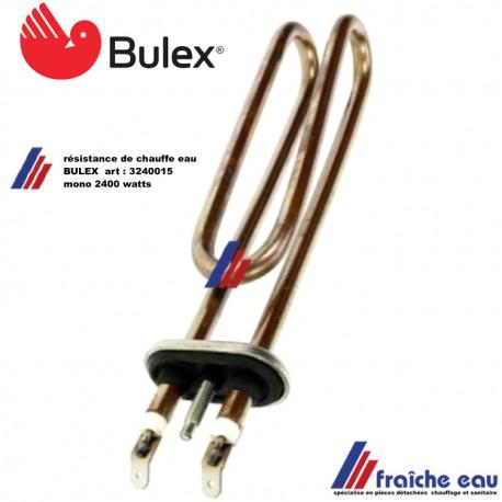 résistance électrique de chauffe eau 3240015 BULEX et SAUNIER DUVAL thermo-plongeur blindé pour boiler sanitaire 2400 watts mono