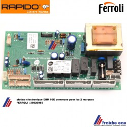 platine FERROLI 39826984 print, circuit imprimé  type DBM06  pour chaudière ATLAS D