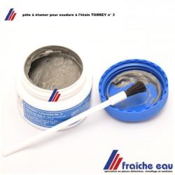 pâte à souder pour conduites d'eau en cuivre , brasage tendre, étamer avant un assemblage de raccord  laiton