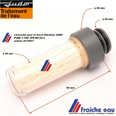 cartouche de filtration ultra fine JUDO PURE TAP art : 8115017, micro filtration JFK-MF-02-4 avec membrane capillaire