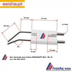 électrode d'allumage haute tension de brûleur WEISHAUPT WL 5 et WL 10