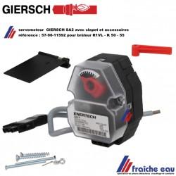 servomoteur 57-90-11592 GIERSCH SA 2 F remplace SA1-F avec câble servo actionne le clapet d'air pour brûleur au mazout