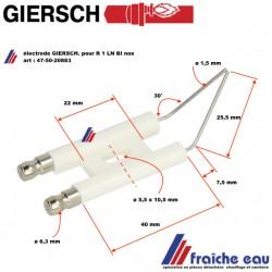 electrode GIERSCH pour R1-V-LN, bougie haute tension d'allumage GIERSCH  pour brûleur R 1