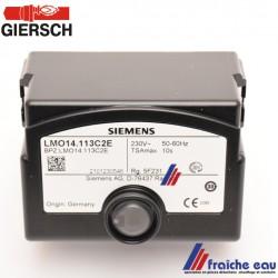 relais de brûleur GIERSCH LMO 14 113 C2 E , automate de combustion, bloc de contrôle de brûleur mazout art : 47-90-26320