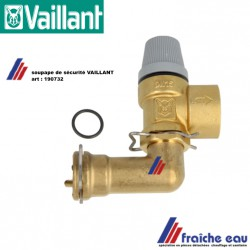 soupape de sécurité 190732 pour VAILLANT  VUW 240 - 243 veiligheidsklep voor condensatie ketel
