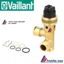 vanne 3 voies 252457 VAILLANT pour chaudière VC -W BW - VSC, Veiligheidsklep  voor condensatie ketel
