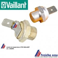 sonde de température NTC VAILLANT art : 282805, NTC probe, voeler voor condensatie ketel