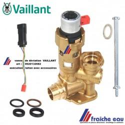 vanne déviatrice laiton VAILLANT art : 00201132682, vanne 3 voies pour la production d'eau chaude sanitaire
