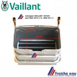 corps de chauffe ,échangeur primaire, chambre combustion VAILLANT 061639  chauffe eau au gaz MAG 350 de 9 à 12  et MAG 24 - 1-2
