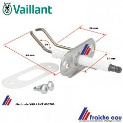 électrode de chaudière à condensation  VAILLANT art : 090709, wisselstukken voor gaswandketel condensatie gas